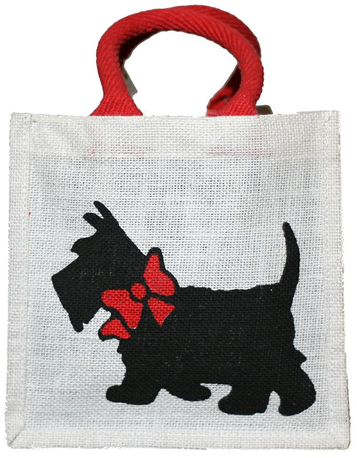 A smaller version of our #hessian #terrier #bag.