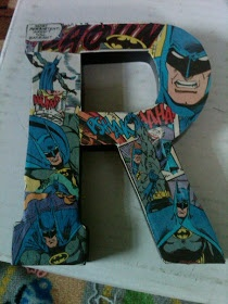 """The Leahy Letters: Superhero Room: Part 3 """"DECOUPAGE BABY!"""""""