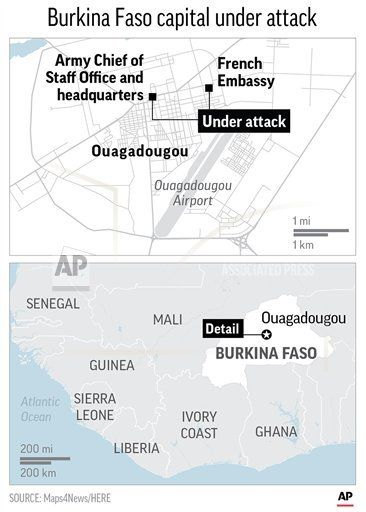OUAGADOUGOU, Burkina Faso /March 02, 2018 (AP)(STL.News) — The Latest on the attack in Burkina Faso's capital (all times local): 3:33 p.m. Burkina Faso's communications minister says eight Islamic extremists, and seven Burkina Faso soldiers have been killed in the attacks on the F... Read More Details: https://www.stl.news/the-latest-8-extremists-7-soldiers-dead-in-burkina-faso/93563/