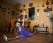 Agnes Keleti, a 91-year-old former Olympic gymnast, performs a split at her house in Herzliya, Israel, Monday, Aug. 13, 2012. Keleti won 10 Olympic medals, including 5 gold medals, while she represented Hungary in the Olympic      games of 1948, 1952, & 1956.