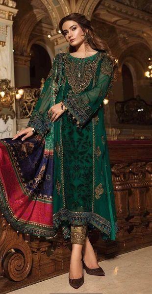 38469e7139a Original Maria. B. MBROIDERED - Emerald Green   Teal (BD-1501 ...