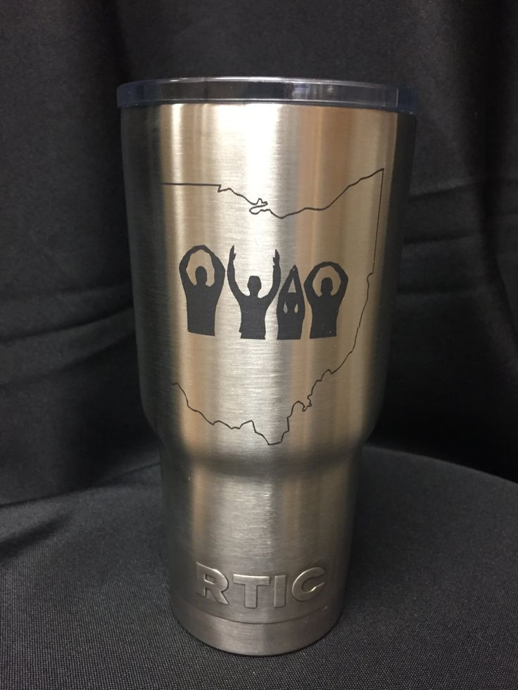 Ohio State Buckeyes tumbler. O-H-I-O people engraved on RTIC stainless steel tumbler. Ohio State Buckeyes engraved on RTIC stainless tumbler by CandAEngraving on Etsy