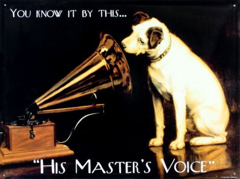 His Masters Voice Tin Sign at AllPosters.com