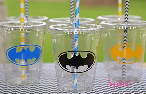 Kids Party Cups12 Super Hero Birthday Boy Cups by SignatureAvenue, $11.40