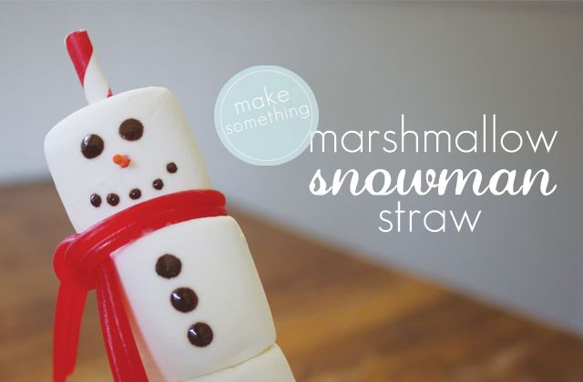 [dandee]: Make Something | Snowman Straw. - maybe class Christmas gifts?