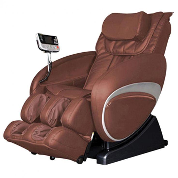 Cozzia shiatsu massage chair 16027 in brown shiatsu