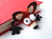 Amigurumi Crochet Fox Bookmark