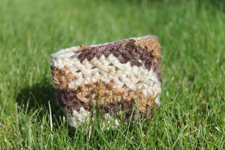 Crochet Camo Coffee Cozie. $7 or 2/$10