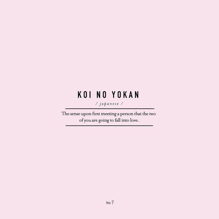 1000 ideas about koi no yokan on pinterest love words for Koi no yokan