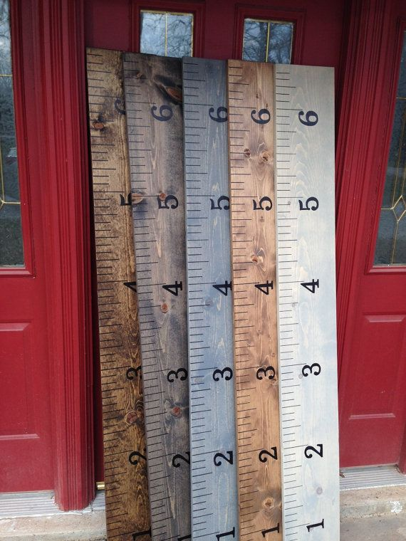 The Rustic Acre Vintage Growth Chart Ruler