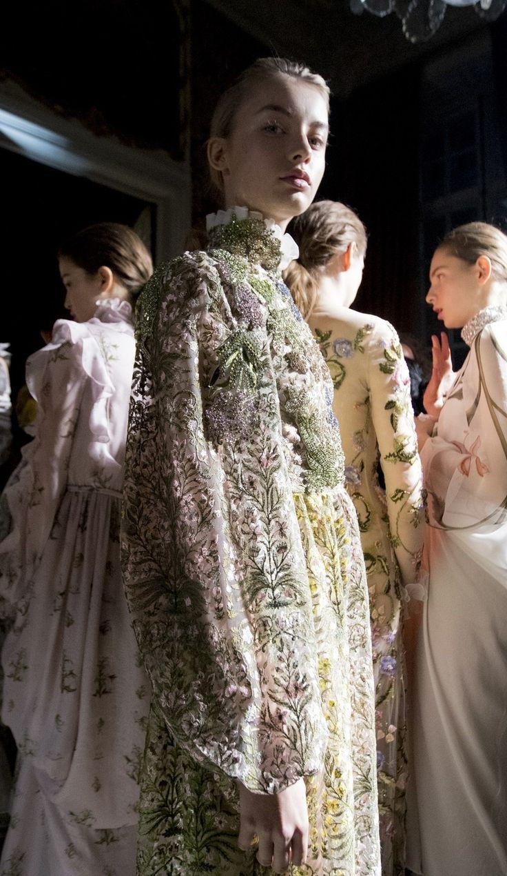 Backstage at Giambattista Valli Haute Couture. Photos by Kevin Tachman.
