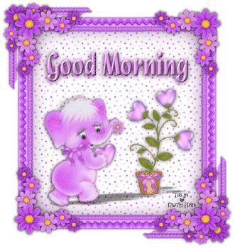 Good Morning cute purple elephant good morning good morning greeting good morning gif