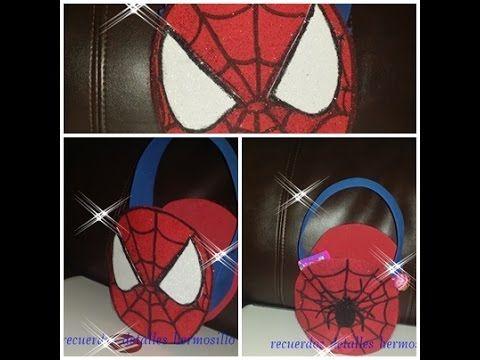 DIY Como Hacer Dulcero Hombre Araña(spiderman) estampado en tela o tul
