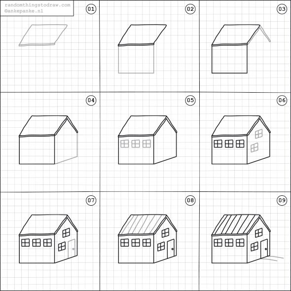 how to draw the houses of parliament step by step