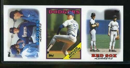 1988 Topps Tiffany Baseball 3 Card Finished Strip Wade Boggs Red