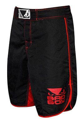 Bad Boy MMA Mens Stretch Fightwear Shorts - Black/Red