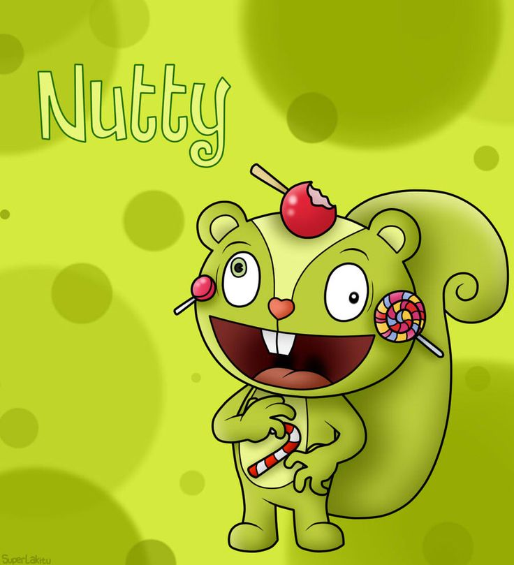My favorite character, a green squirrel who is addicted to candy. His actions on him trying to get candy seem to get other people killed and then himself killed. But he always seems to be happy unless he doesn't have his candy.