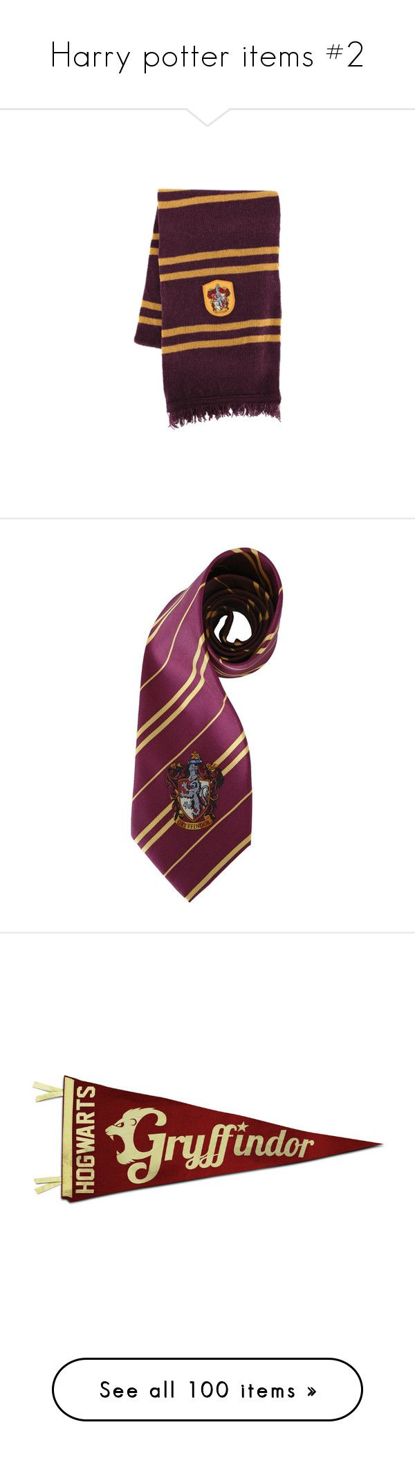 """""""Harry potter items #2"""" by thilde-pjusket-kristensen ❤ liked on Polyvore featuring accessories, scarves, harry potter, hogwarts, gryffindor, tie, filler, fillers, hp and backgrounds"""
