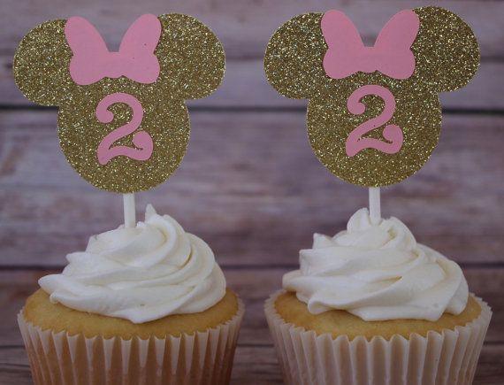 Primeros de la torta de la taza de Minnie Mouse por KbPaperCo