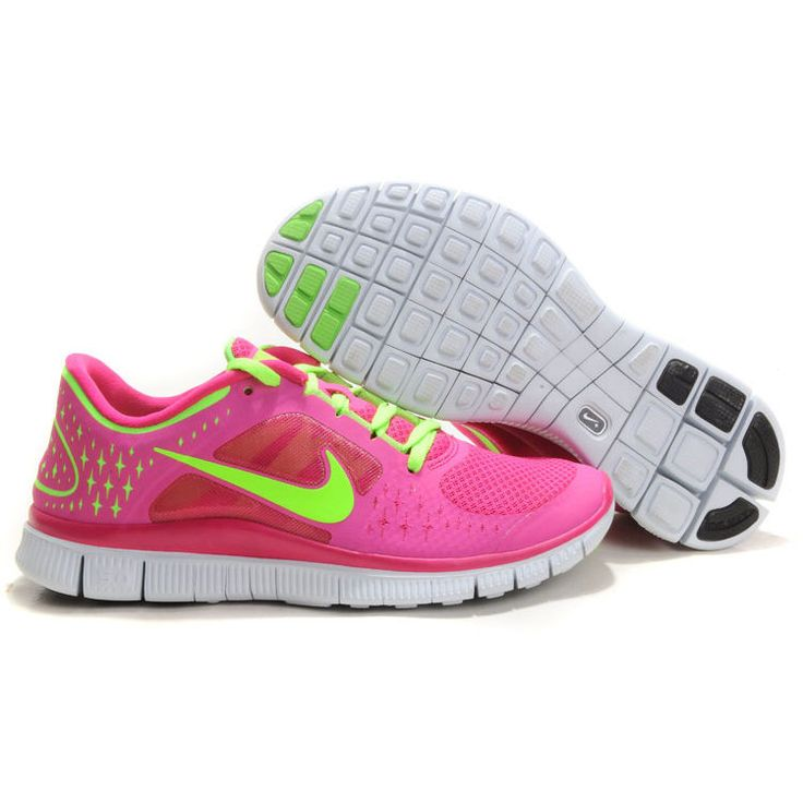 FT2119-Damen Nike Free Run 3 Rosa Grün Günstige : Freestyle-de.com