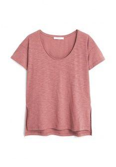 Футболка Mango, цвет: розовый. Артикул: MA002EWGDV96. Женская одежда / Футболки и поло / Футболки с коротким рукавом