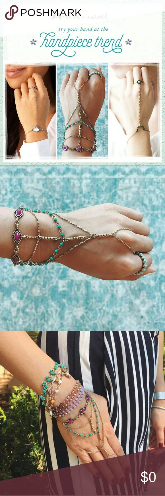 TrendSet This Summer!! Hand pieces are definitely must haves this summer! Don't delay get one now! Shop hand pieces on my online boutique! Https://www.chloeandisabel.com/boutique/brittanys Chloe + Isabel Jewelry