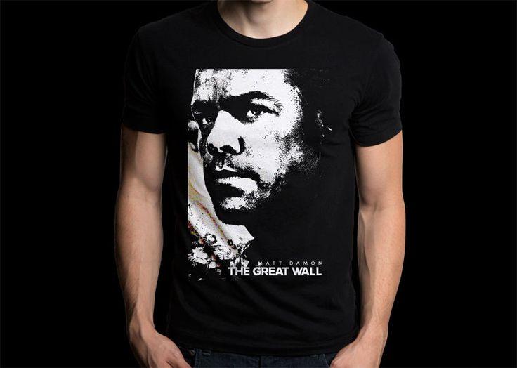 The Great Wall Movies Shirt Matt Damon Black T-shirt #Gildan #PersonalizedTee