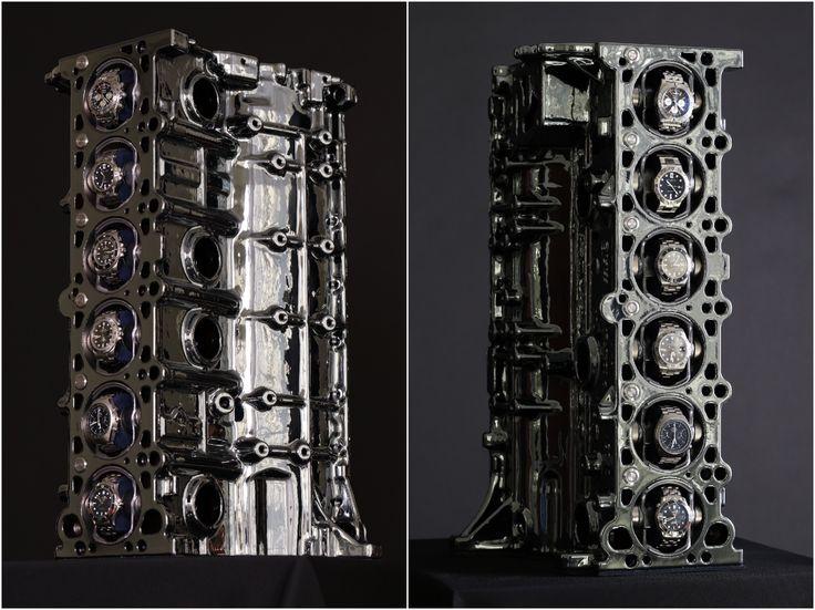 "VULCAN INNOVA - ""VI52"" Is A Watch Winder Engine Block Of A BMW M52 Straight-6"