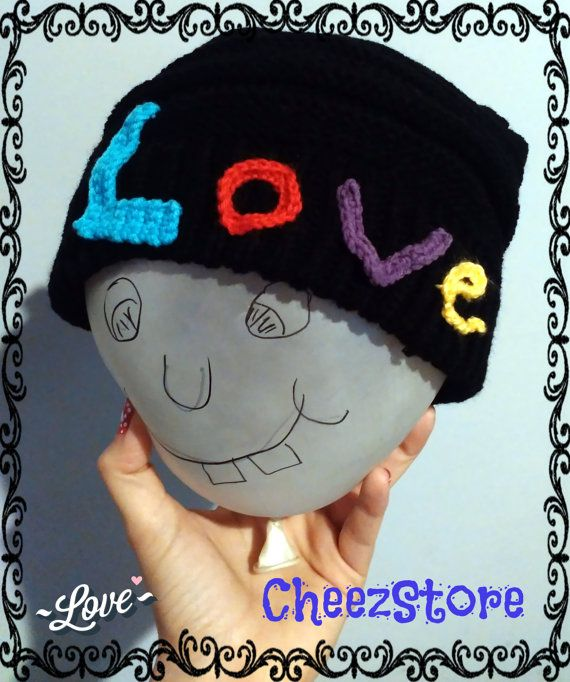 Slouchy beanie Love letters Love logo Great St by CheezStore