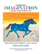 Early learning activities—including arts and crafts—for The Artist Who Painted a Blue Horse by Eric Carle. This printable classroom guide includes a horse coloring page, animal mobile cut-outs, and activity suggestions to help you explore art and imagination in your classroom. Get it here: http://bit.ly/xGnn7s