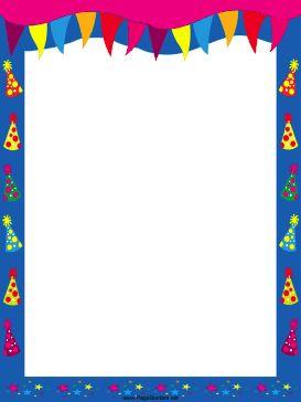 free, printable party border.