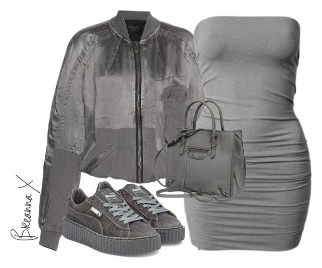 """Untitled #3309"" by breannamules ❤ liked on Polyvore featuring Marina Hoermanseder, Puma and Balenciaga"