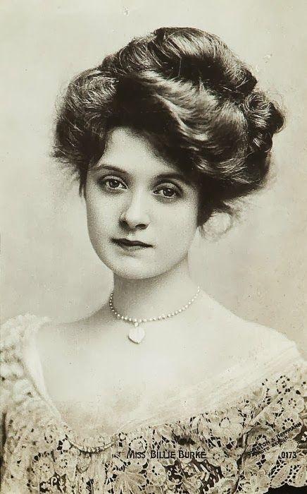 Billie Burke - c. 1910 - American actress - love her hair!