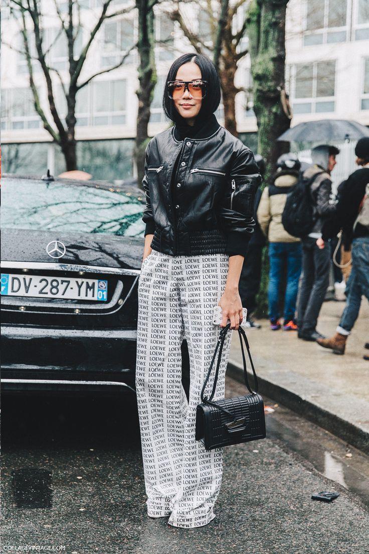 PFW-Paris_Fashion_Week_Fall_2016-Street_Style-Collage_Vintage-yoyo_cao-loewe_trousers-3
