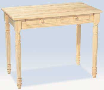 205 Unfinished Pine Chaparral Melina Desk Unfinished