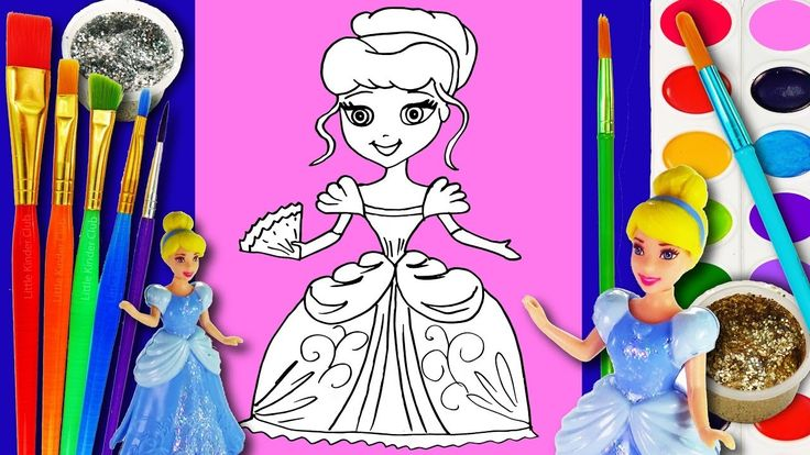 Drawing and Colors 15 - Watercolor Crayons Cinderella Hand Disney princess - Wie man zeichnet Drawing and Colors 15 - Watercolor Crayons Cinderella Hand Coloring Page Disney princess - Wie man zeichnet