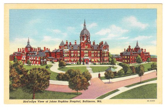 John Hopkins Hospital Baltimore Maryland by PicturesFromThePast, $4.25