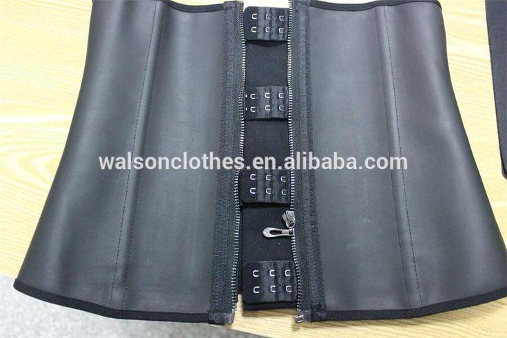 Zipper Hooks Latex waist Trainer Corset Underbust Waist Cincher WALSON Clip Zip Slim Shaper