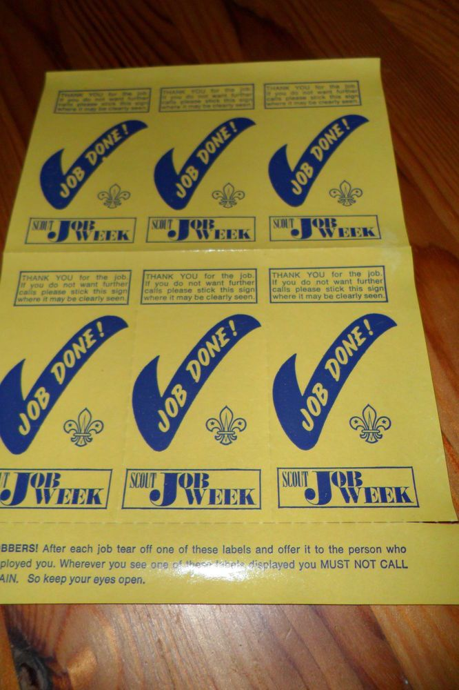 Bob a job week stickers. They used to make you do so much for the money. Cleaning and polishing and so many trips to the shops