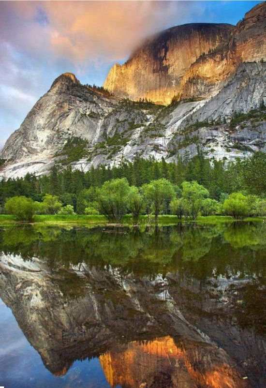 Yosemite National Park contains a multitude of amazing natural wonders, so it was challenging to pick just one for this article, but Mirror Lake is a short 2.4 mile hike that offers spectacular views of Half Dome reflected in the idyllic still waters of the lake.