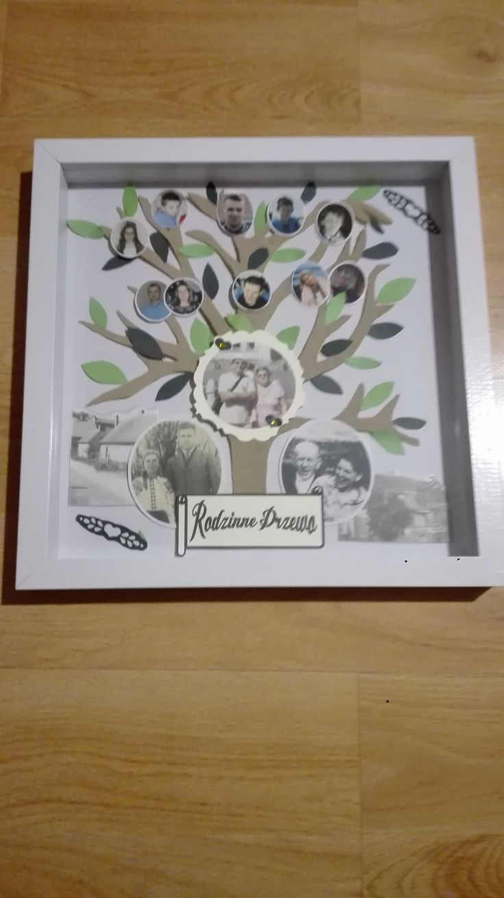 DIY Shadow Box Familly Tree