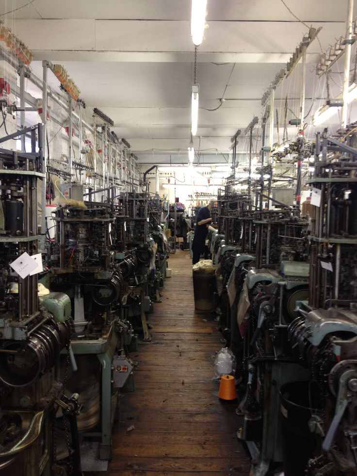 Inside the factory where Freight has it's socks made. They have been making them for over 100 years.