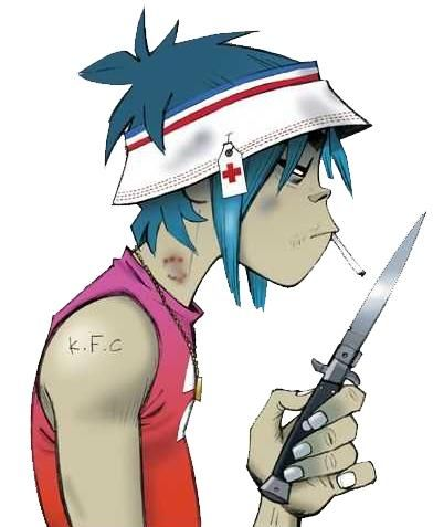 I feel sorry for 2D... he's on so many meds that he cant even feel the pain when murdoc is beating himnup