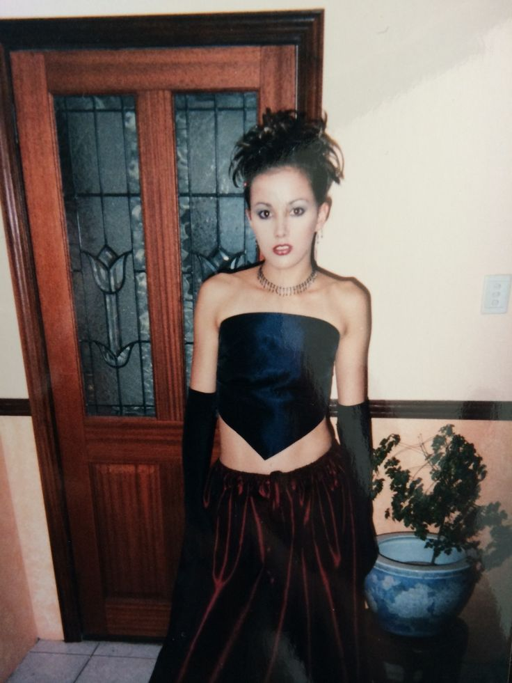 Bec Judd at 17.  Spice Girls/90's inspired - she says this look was all the rage.