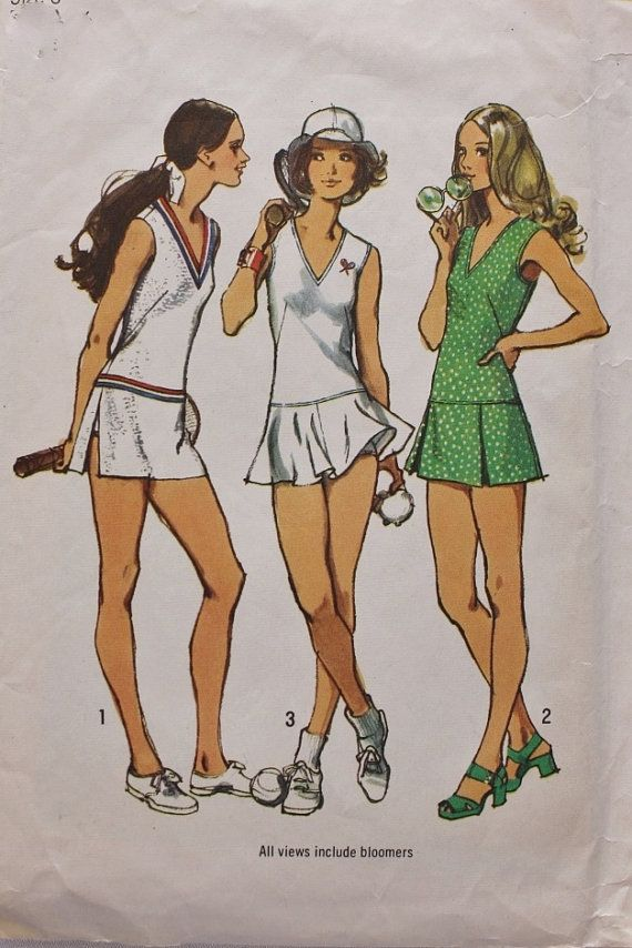 1970s Tennis Dress with Three Skirts and by BluetreeSewingStudio
