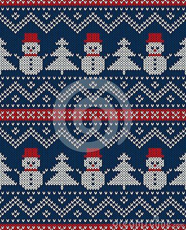 Snowmen & Trees pattern