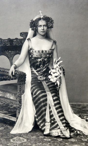 Crown Princess Marie of Romania dressed as Princesse Lointaine, Bucharest, 1896