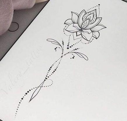 51 Ideen Tätowierung Lotus Flower Neck