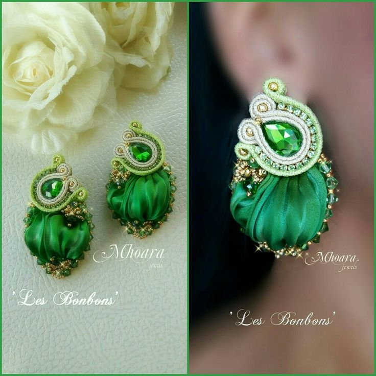' Les Bonbons ' shibori silk and soutache by Mhoara Jewels