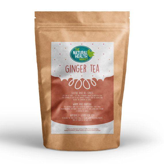 Ingwer Teebeutel • feinste Qualität Herbal Tee • für Übelkeit • Reise Krankheit • Magenverstimmung • Darm reinigen Detox